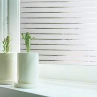 Funlife 45x500cm Window Film Privacy Static Cling Decorative Window Sticker Film Vinyl Self adhesive Frosted Stripe Film