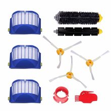 parts fit for Robot Roomba 595 620 630 645 650 655 660 Replenishment Kit 10Pcs 600 Series Replacement Brushes Kit(China)