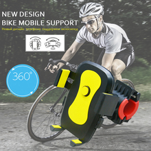 Universal Mobile Phone GPS Mount Holder Supporter Stander 360 Degree Rotation for Bicycle Bike Motorcycle Free Shipping