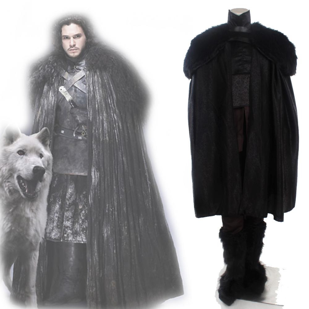 Game of Thrones Cosplay Jon Snow Cosplay Costume Suit Adult Mens Halloween Carnival Costume