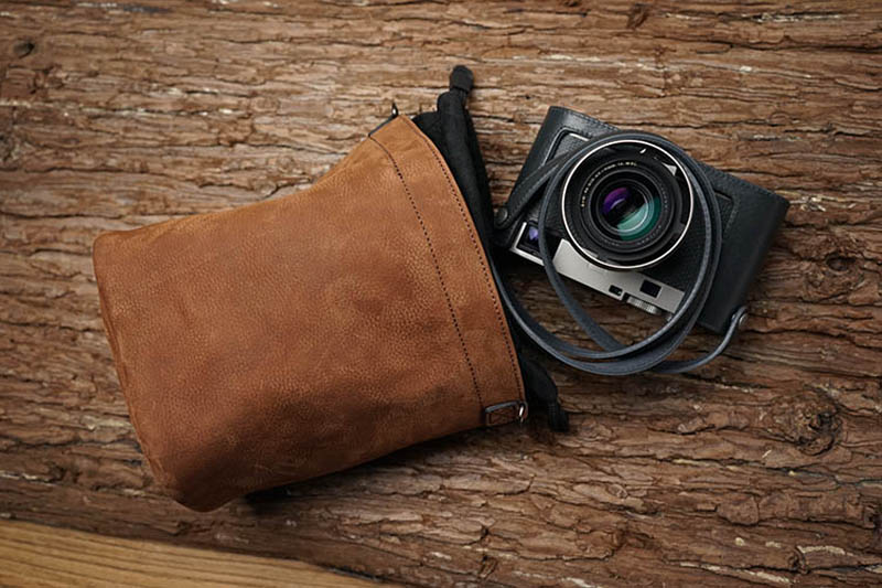 Genuine Leather Camera Protector Retro Case Soft Bag Pouch for Leica M9 M8 Fujifilm X T1