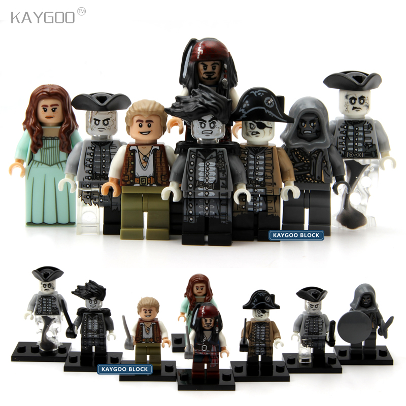 Kaygoo 8pcs PG8048 Pirates of the Caribbean Lesaro Captain Jack Edward Mermaid Davy Jones Buildng Blocks Lepin Baby Kids Toys kazi 608pcs pirates armada flagship building blocks brinquedos caribbean warship sets the black pearl compatible with bricks