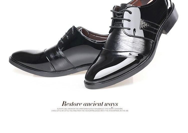 De En Robe Noir Cuir Messieurs Oxford Plat Nouveau Taille Top Bout Homme 2018 Plus Qualité marron Chaussures La Classique Vache Formelle Pointu Hommes 4q1ZxaxEw