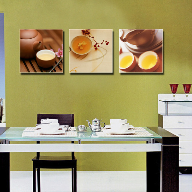 3 Piece Canvas Wall Art Kitchen Dinning Room Wall Decor Oil Painting ...