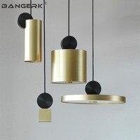 Nordic Дизайн пост современный светодиодный подвесной светильник Утюг золото подвесной светильник Лофт светильники подвесные светильники Home