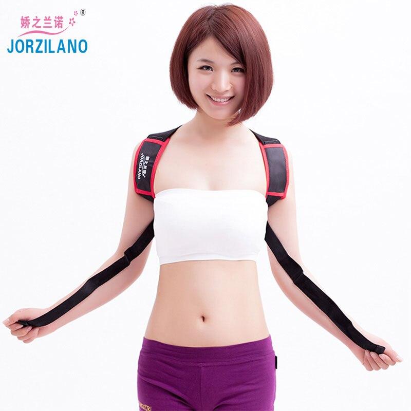 JORZIANO Unisex Adjustable Back Posture Corrector Brace Back Shoulder Support Belt Posture Correction Belt for Men Women Black