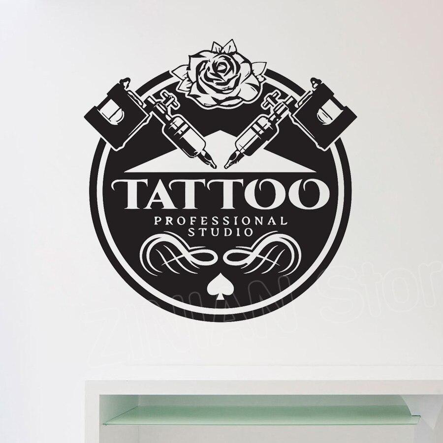 Decalque da parede Salão de Arte Estúdio de Tatuagem Adesivo de Vinil decalque paredes Self Adhesive Filme Janela Adesivos De Parede Decoração Moderna D471