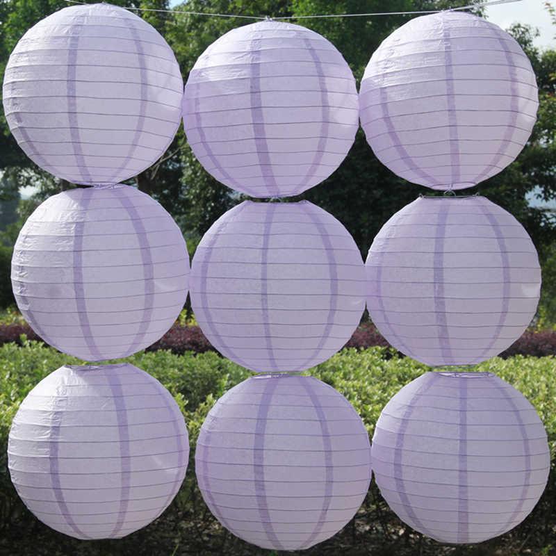 Violet Tím Trung Quốc Giấy Đèn Lồng 10-15-20-25-30-35-40cm cho Đám Cưới Giáng Sinh Halloween Party Trang Trí Giấy Bóng Đèn