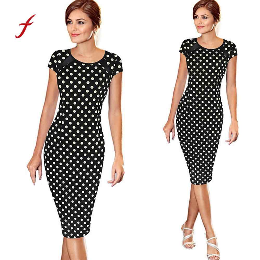 0a7a76069a8fc Detail Feedback Questions about Oxiuly 5XL Vintage Sheath Dot ...