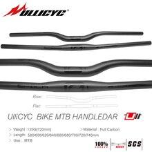 купить Ullicyc MTB Carbon friber  Bicycle Handlebar Flat or Rise Handlebar Mountain bike parts 31.8*580/600/620/640/660/680/700/720/740 дешево
