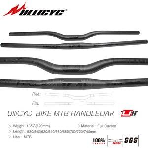 Image 1 - Ullicyc friber In Carbonio MTB Della Bicicletta Manubrio Piatto o Aumento Del Manubrio Mountain parti della bici 31.8*580/600/620/640/660/680/700/720/740