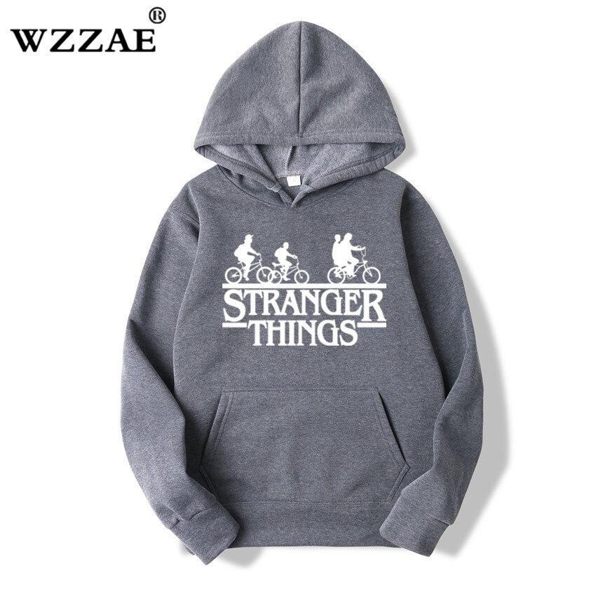 Trendy Faces Stranger Things Hooded Hoodies and Sweatshirts 48