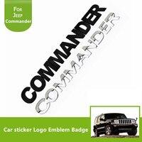 1PCS Car Decoration Metal Adhesive Letter COMMANDER 3D Truck Car Badge Emblem Sticker for Jeep Commander