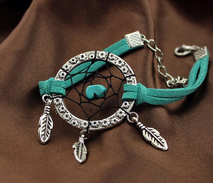Popular Silver Plating jewelry Indian dream catcher charm bracelet New Dream Catcher Charm Bracelet