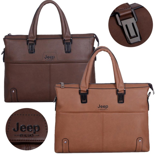 2a572bd58e Genuine Cowhide Leather Jeep Brands Men Business Briefcase Shoulder Bags  for Laptop Bag Travel Handbags Free shipping
