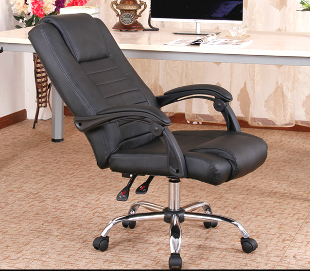 Network staff boss chair swivel chair recreational chair ergonomic home computer chair (Aluminum foot)