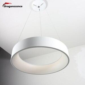 Image 5 - Круглый алюминиевый современный светодиодный подвесной светильник для гостиной, спальни, столовой, офисный подвесной светильник, Lamparas De Techo Colgante