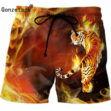 Gonzetank 2017 Sexy 3D Men Classic Print Shorts Men Boxers Cargo Shorts Men Summer for Casual Jogger Sweat Tiger Size M~5XL