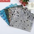 Nuelife 4 шт. самоклеющиеся 3d металлические мозаичные Настенные обои водостойкие антимягкие наклейки на стену для спальни