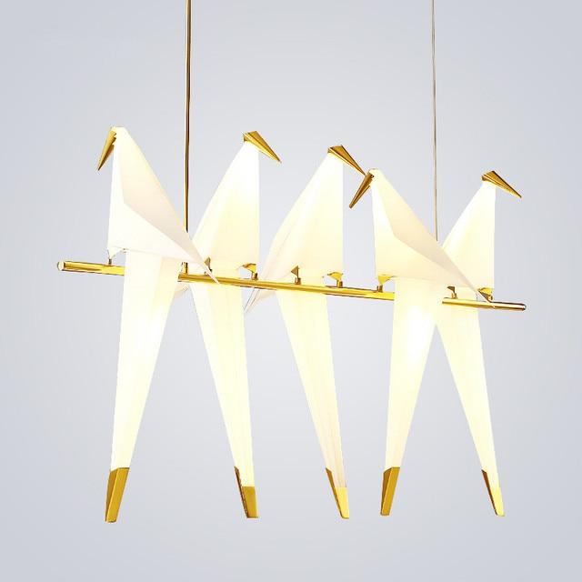 aliexpress koop moderne nordic wit origami led hanglamp