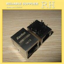 50 adet/grup HanRun HR911105A RJ45 ışık ağ transformatörleri