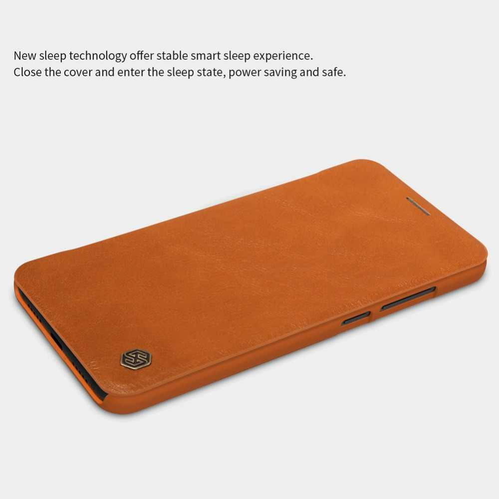 Xiaomi mi 8 кожаный чехол Nillkin QIN защитный флип-чехол для mi 8 mi 8 mi 6 с функцией пробуждения/сна