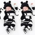 Adorable Otoño Nuevas Muchachas de Los Bebés Recién Nacidos Mameluco Rayado Traje Mono Mono Ropa 0-3 Años