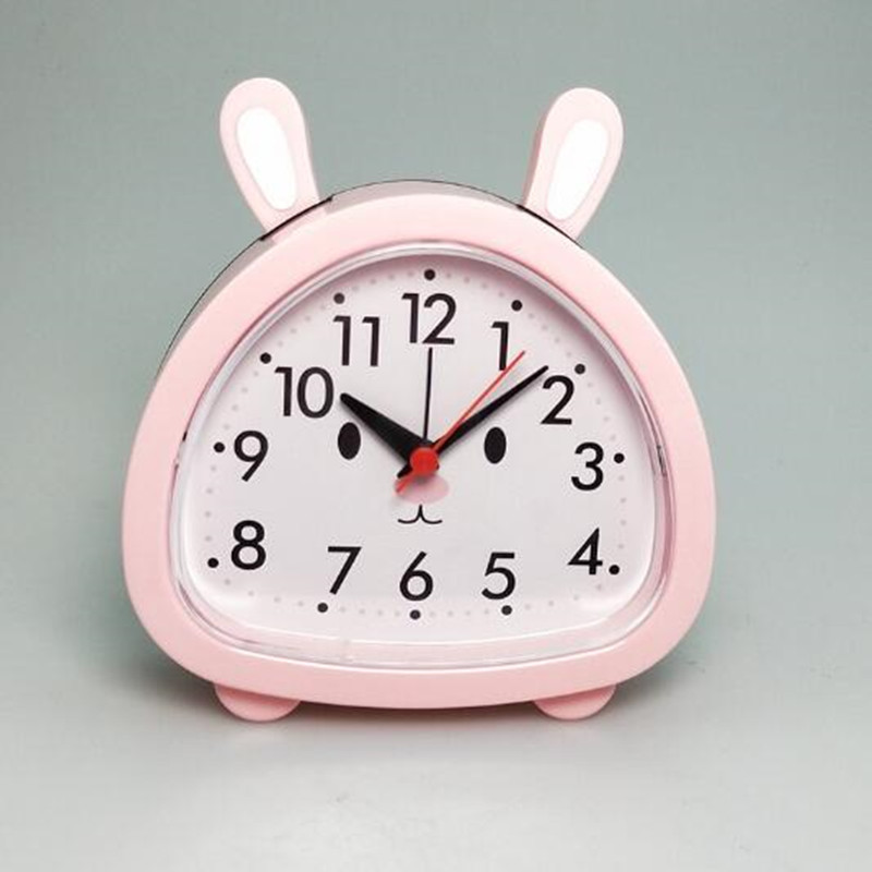 Home & Garden Sincere 1 Pcs The Kids Alarm Clock Cartoon Stlye Rabbit Bear Clock Desktop Round Face Table Alarm Clock Making Things Convenient For Customers