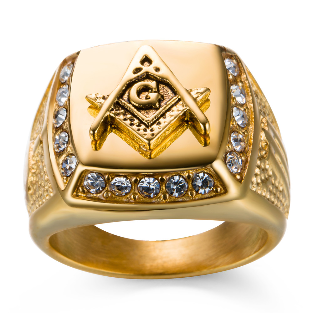 antique ring yellow in freemason rings ruby masonic gold