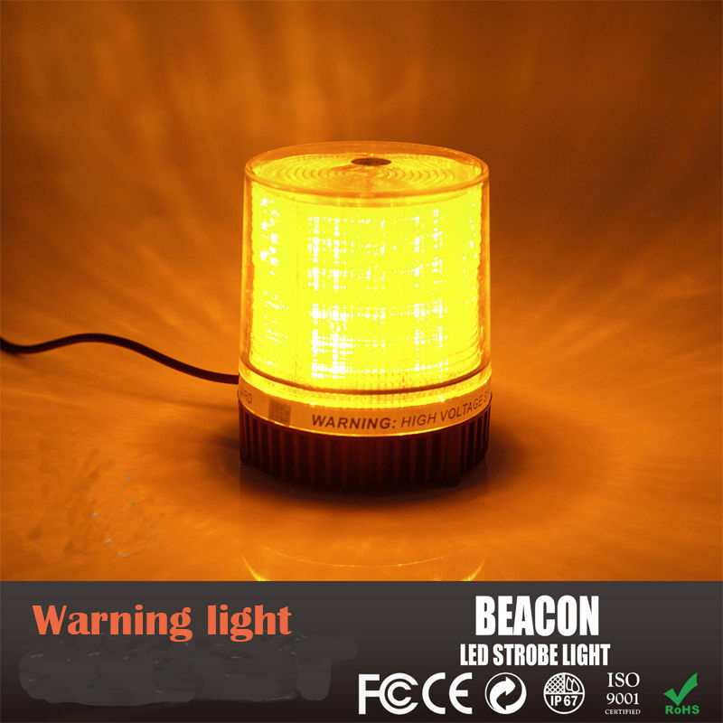 все цены на castaleca 1Pcs DC12V LED Amber Car Truck Rotating Revolving Magnetic Base Emergency Flash Strobe Light Beacon warning Roof lamp онлайн