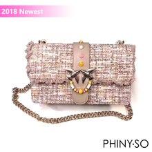2018 Terbaru Mode walet messenger tas tas merek terkenal wanita tas kulit asli cola surat keling chains flap