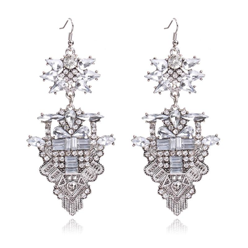 Ztech Ny Fashion Za Luksus Brand Rhinestones Vandfald Crystal - Mode smykker - Foto 5