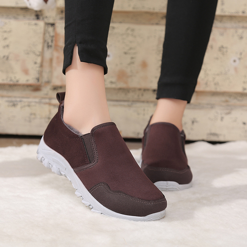 2018 New women Winter Shoes Solid Color Snow Boots Plush Inside Antiskid Bottom Keep Warm Waterproof Ski Boots Size rfv67 size 35 43 waterproof women winter shoes snow boots warm fur inside antiskid bottom keep warm mother casual boots bare shoes 40a
