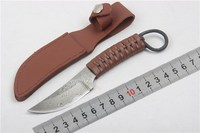 Fixed Blade Knife Tactical Knife Leather Rope Handle Knife Pocket Knife EDC Tools High Quality Free