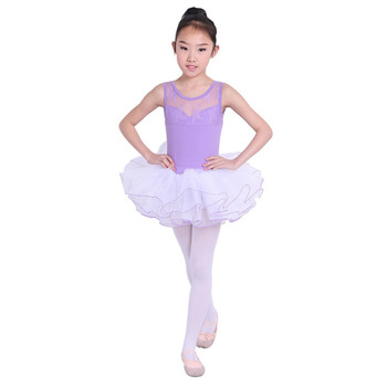 2018 Baby Kids Girls Ballet Dance Dress Gymnastics Clothing Short Sleeve Dancewear Спортивный бальный танец