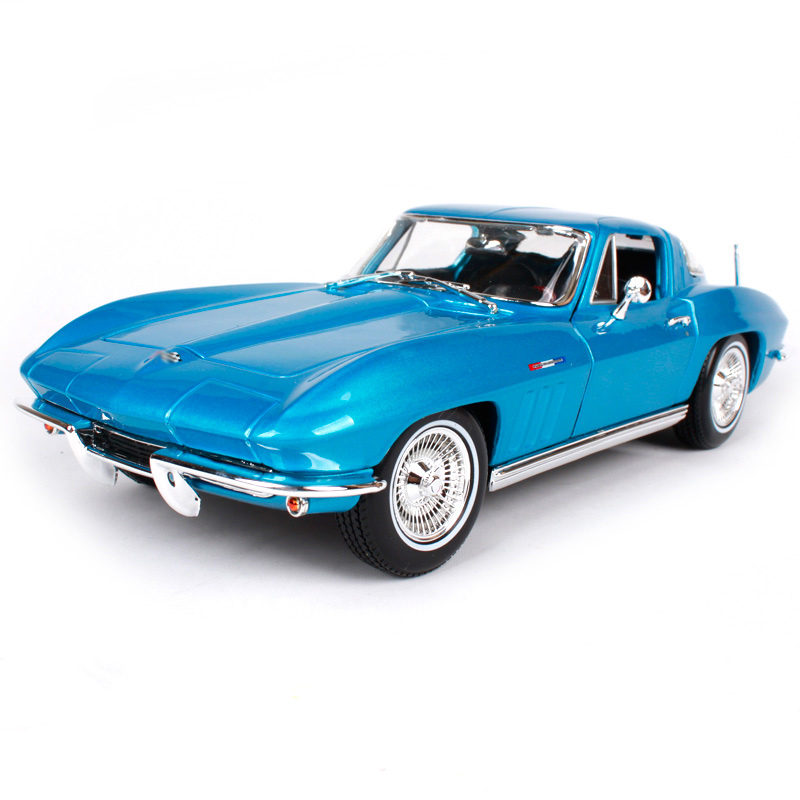 Maisto 1:18 1965 Corvette Old Car model Diecast Model Car Toy New In Box Free Shipping 31640 2017 new maisto 1 18 scale metal car