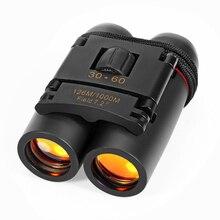 Telescopio profesional de visión nocturna de viaje de turismo al aire libre de gran angular binoculares plegables con visión nocturna de poca luz
