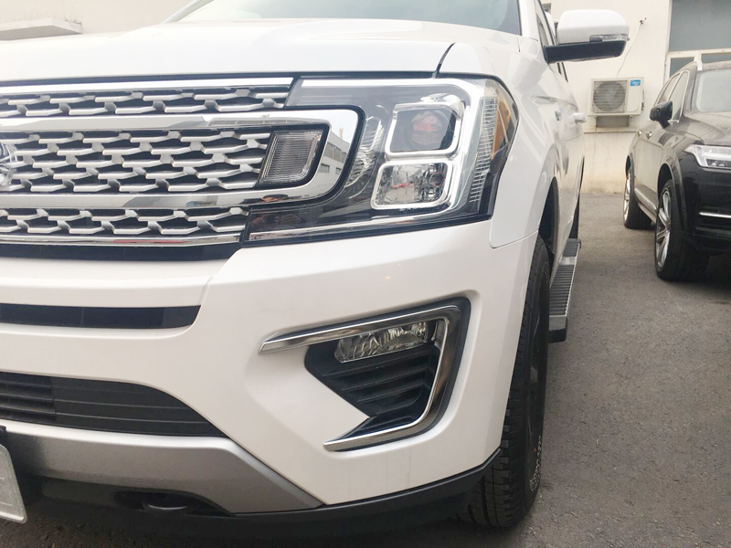 For Ford Expedition 2018 ABS Chrome Car Front Fog Light Lamp Cover Trim Bezel Garnish Molding