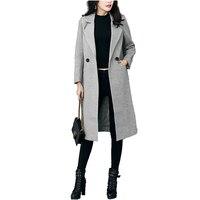 2017 New Luxury Brand Winter Women Thicken Warm Woolen Coat Office Lady Elegant Female Slim Wool