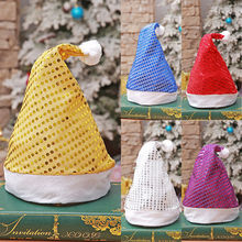 1PC Kids Santa Claus Christmas Hat Red And White Party Hats Holiday Costume Caps Decorative lovely