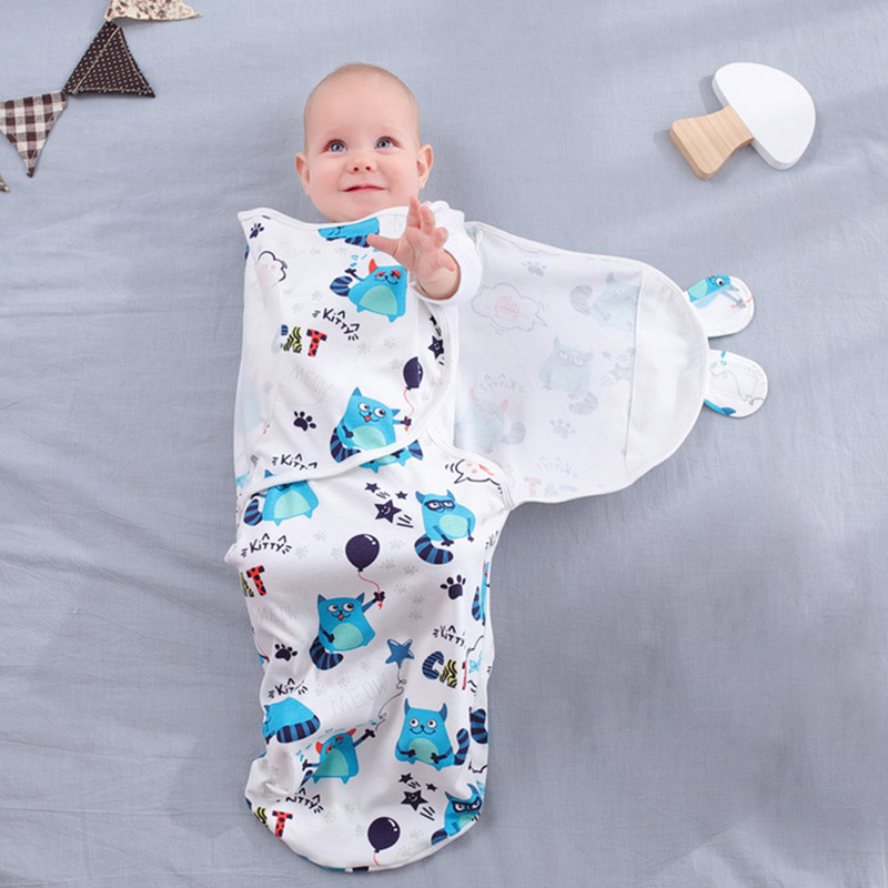 Baby Swaddle Envelope For Newborns 100% Cotton 0-6 Months Cocoon Baby Sleeping Bag Feeding Blankets Sleepsack Soft Wrap