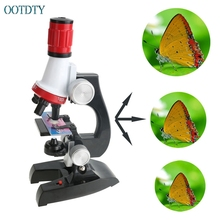 Funny New Kids Child Microscope Lab 100X-1200X Home School Educational Kit Toy Gift #330