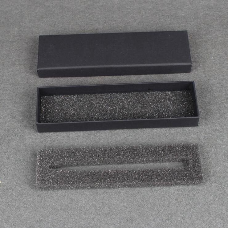 50 stks Zwarte Pen Display Verpakking Dozen blank Gift Sieraden Doos accepteren aanpassen logo pen verpakking papier case-in Geschenktasjes & Inpak Benodigheden van Huis & Tuin op  Groep 3