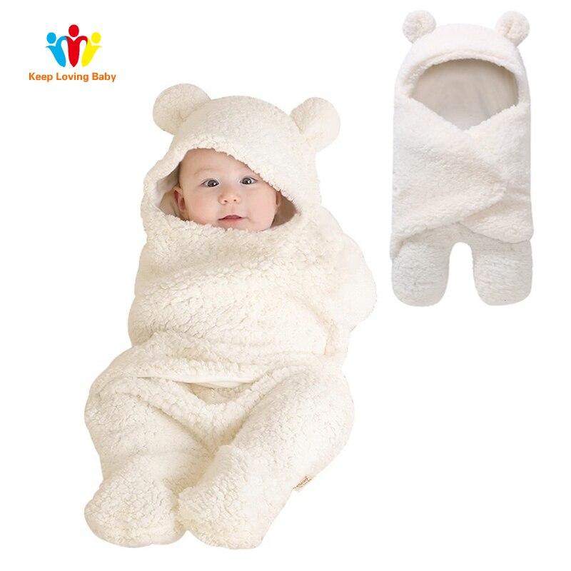 Baby Sleeping Bag Newborn Velvet Cotton Toddler Sleeping Bags Infant Swaddle Wrap Blanket Baby Room Sleepsack