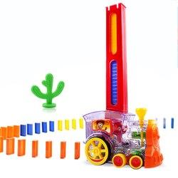 22 см Domino Поезд Модель автомобиля игрушки автоматическая наборы до 60 шт. Красочные Domino блоки игры с нагрузкой картридж игрушки подарок для ма...