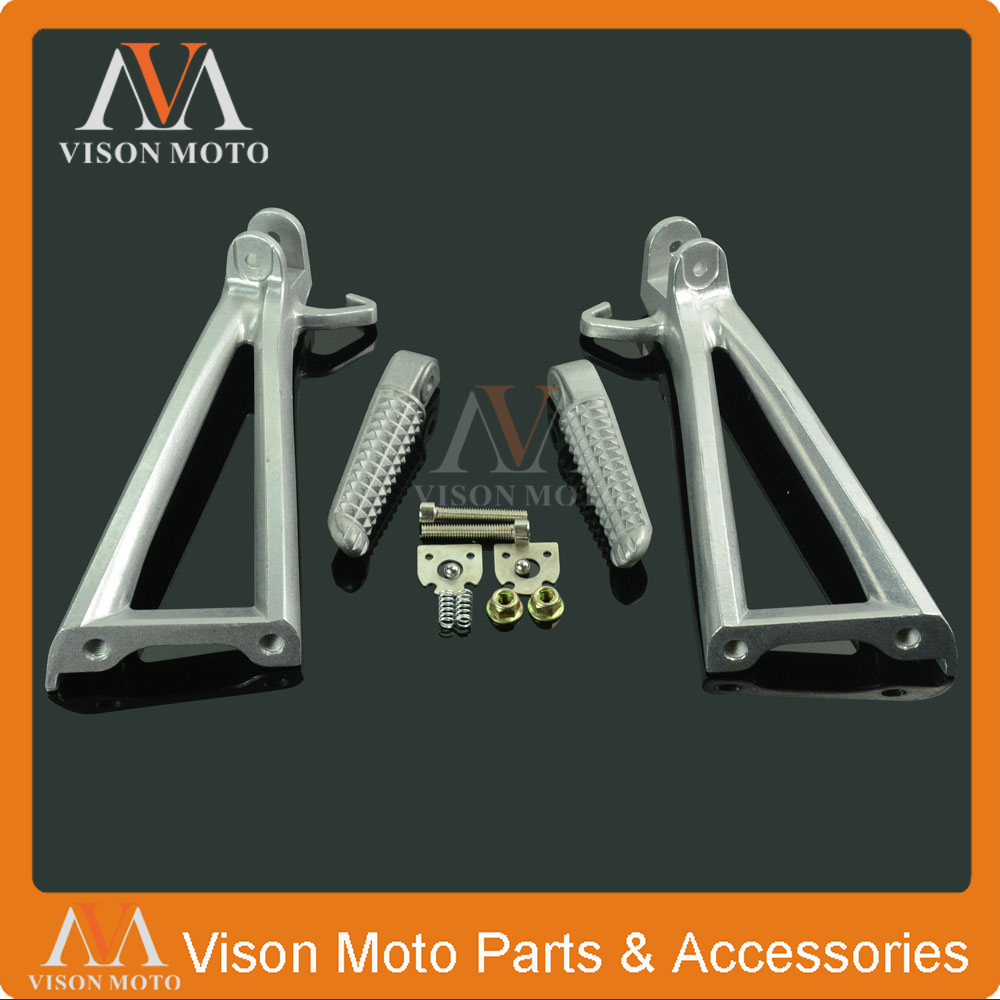 Motorcycle Rear Foot Pegs Rest Footrest Pedals Bracket For YAMAHA YZFR6 YZF-R6 YZF R6 2006 2007 2008 2009 2010 2011 2015 SILVER
