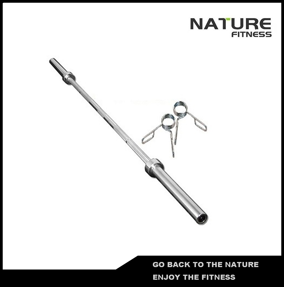 6FT Iron Solid Construction Quality Brass Bushings Spring Collars Straight Weight Plate Weight Lifting Barbell Bar