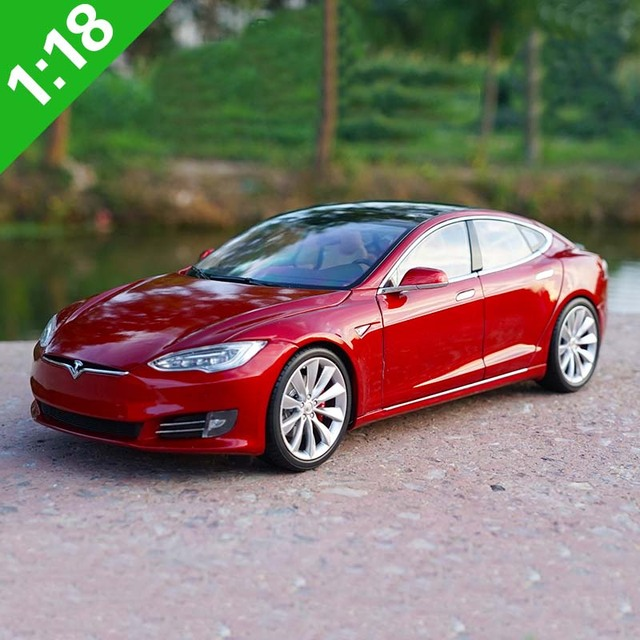 New 1:18 TESLA MODEL S P100D Alloy Diecast Model Toy Car ...