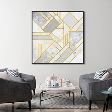 Modern Marble Irregular Line Poster Hanging On The Wall Painting Print Canvas Picture Home Art Decoration Custom