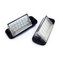 For BMW E36 3 Series 1992-1998 318i/320i/M3 2Pcs White Error Free Auto License Plate Light 18 LED 3528SMD Lamps
